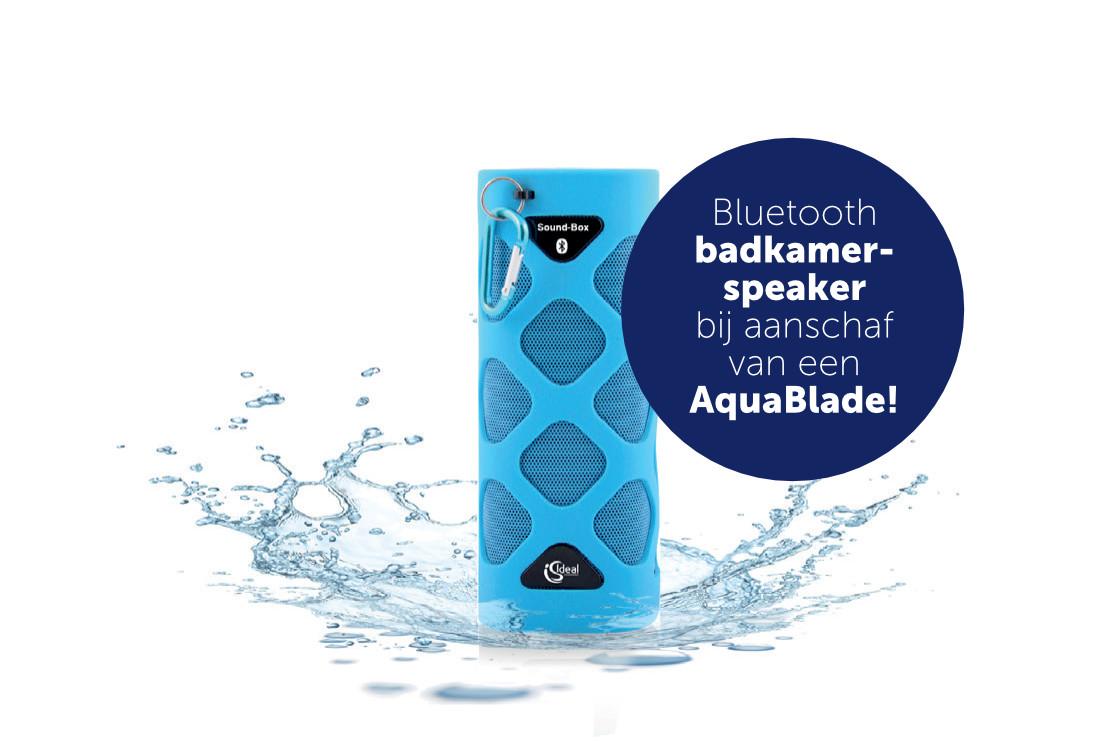 Bij aanschaf van een Aquablade toilet nu gratis een bluetooth ...