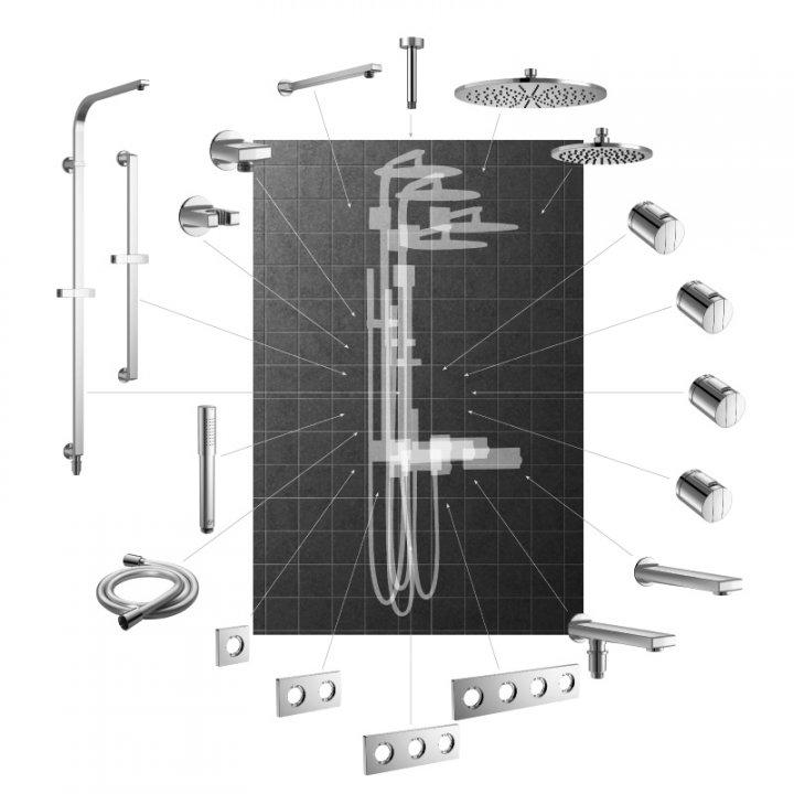 Archimodule configurator ideal standard nederland for Badkamer configurator