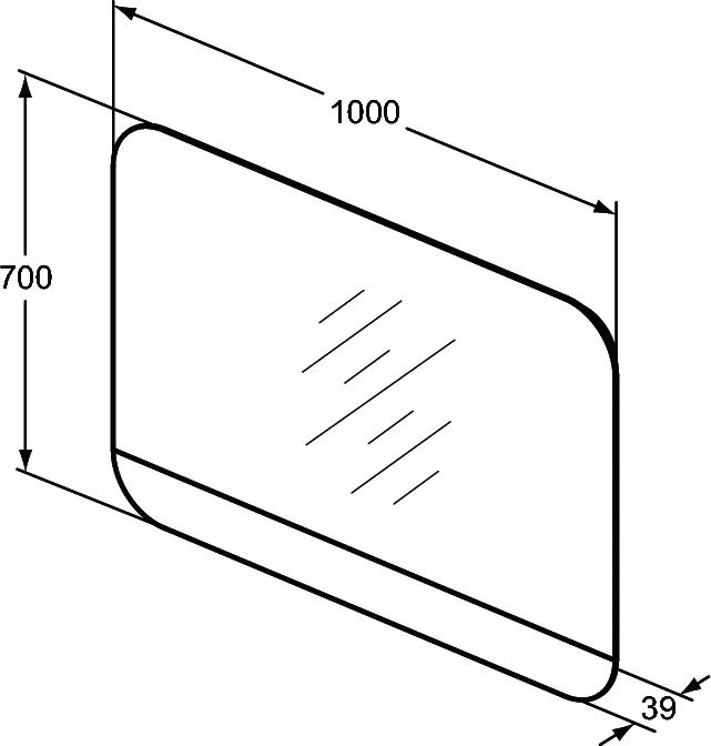 Spiegel met verlichting en verwarmingselement 1000 mm | Ideal ...
