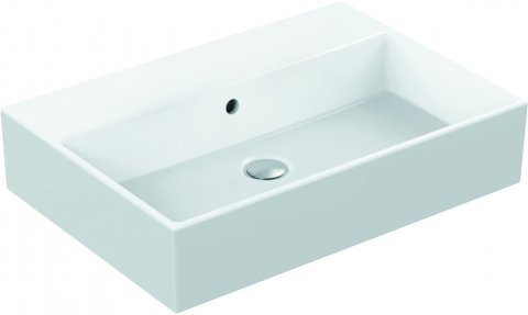 Wastafel 600 mm zonder kraangat met overloop ideal standard